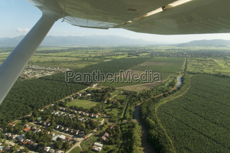 aerial view of the landscape of