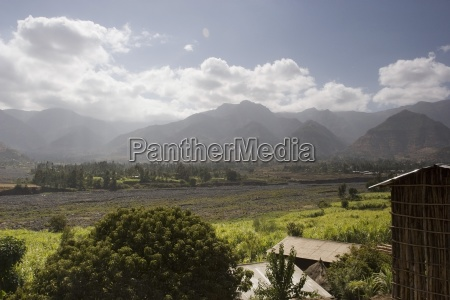scenic view of agricultural valley ethiopia