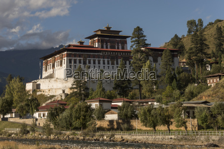 rinpung dzong in the paro valley