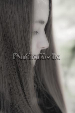makrooptagelse naerbillede farve amerikansk brun ansigt