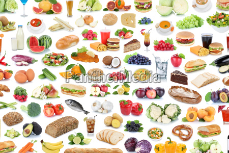 collection collage mad sund ernaering frugt