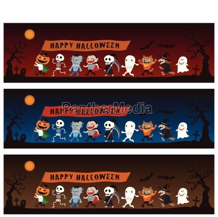 halloween monstre illustration