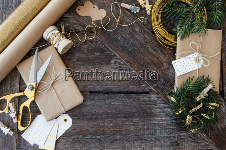 presents and decoration for christmas