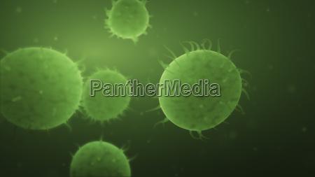 bacteria spread on green background autoimmune
