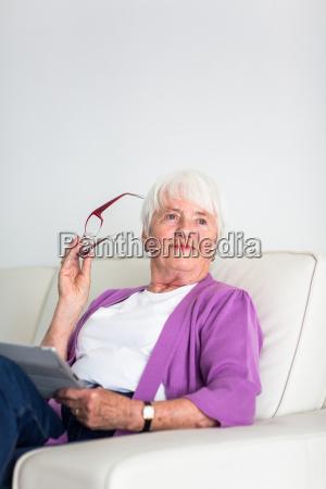 portrait of a senior woman at