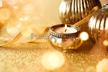 gyldne juledekoration