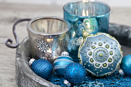 blue, christmas, ornament, still, life - 25864157