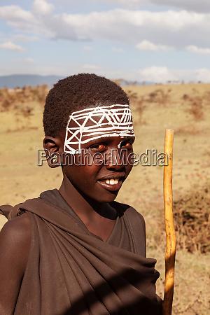 portraet af unge maasai warrior