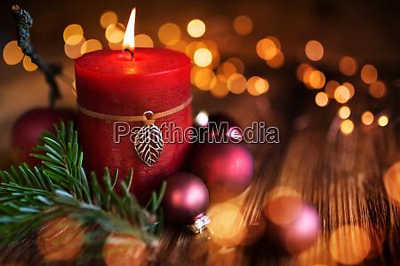 jule stearinlys dekoration