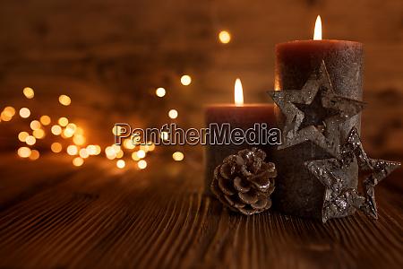 stadig liv med stearinlys til jul