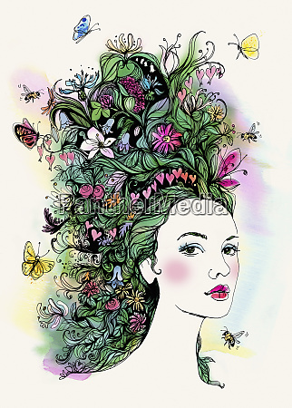 portraet af en smuk kvinde med