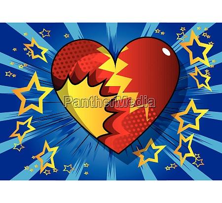 comic book stil hjerte