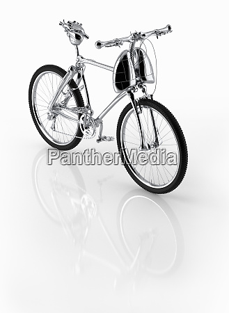 shiny new bicycle with frame of
