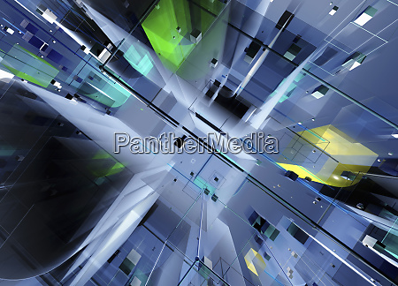 abstract three dimensional futuristic structure from