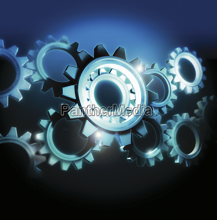close up of cogs