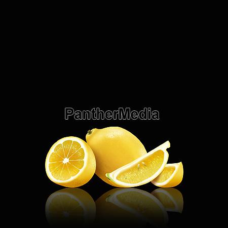 hele og skaeres citroner