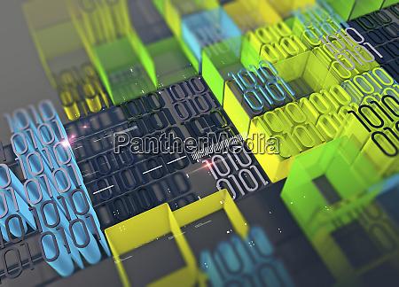 computer programmering og blokke af farvestralende