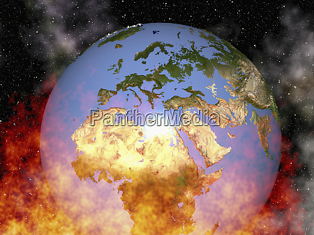 earth in flames