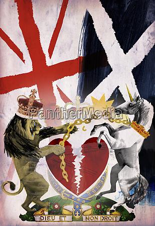 skotsk uafhaengighed collage med skotland bryde