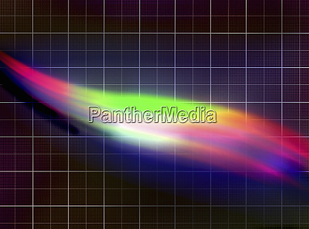 abstract pattern of light spectrum over