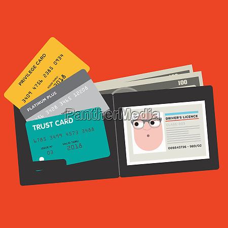 forskellige kreditkort og korere licens i