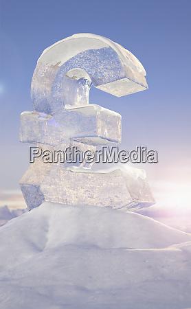 frozen british pound sign on top