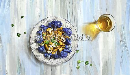 lilla blomkal og cashew nodde karry