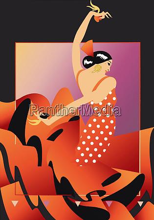 flamenco dancer in red polka dot
