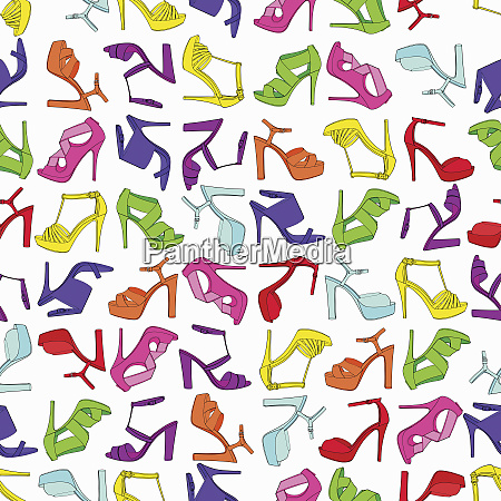 pattern of lots of different multicolored
