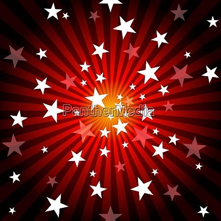 solstraler og stjerner baggrund