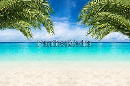 paradis strand baggrund