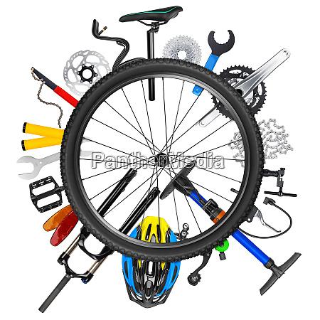 cykel hjul koncept