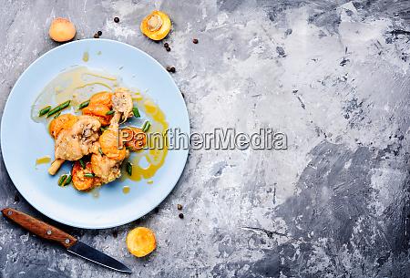 kyllingekod i abrikos sauce