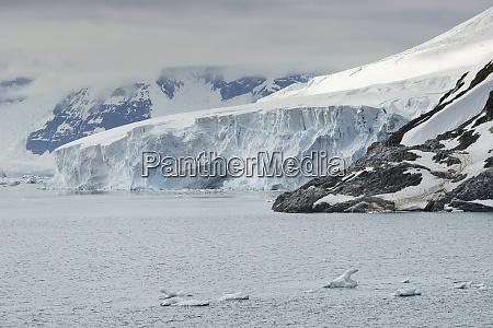 large glacier at paradise bay antarctic
