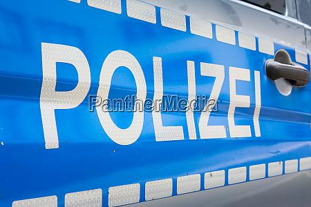 tysk polizei bil label badge politi