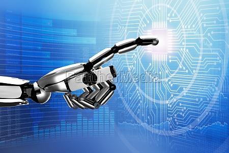 robot rorende digitalt kredslob