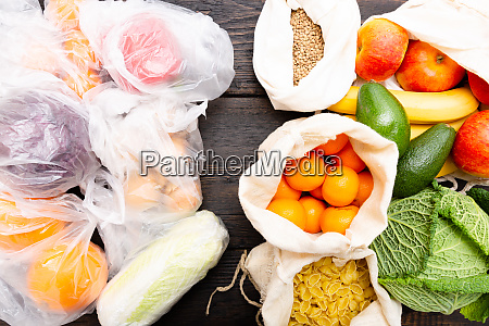 friske grontsager og frugter i oko