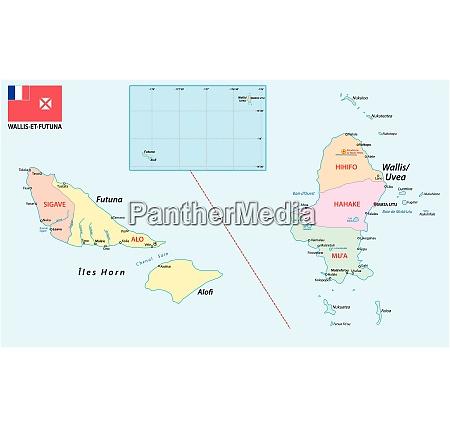 administrativt og politisk kort over det