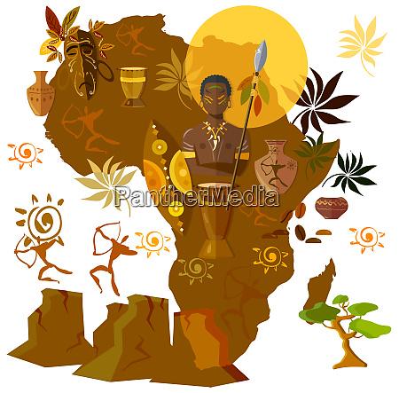 afrika kultur stamme afro maske gammel
