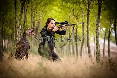 efterars jagtsaesonen jagt udendors sport kvinde
