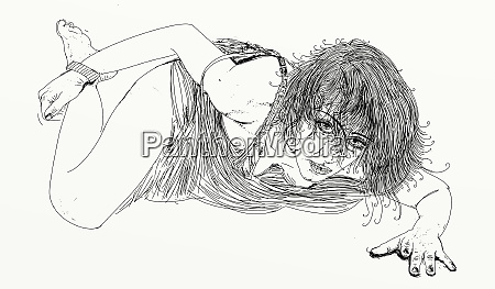 kvinde erotisk raffineret og sensuel linje