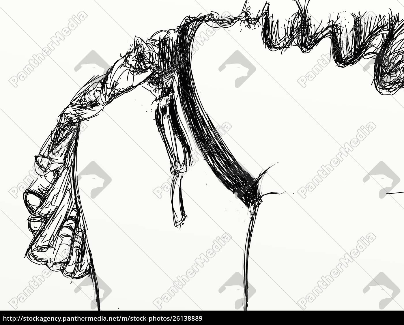 , kvinde, erotisk, raffineret, og, sensuel, linje - 26138889