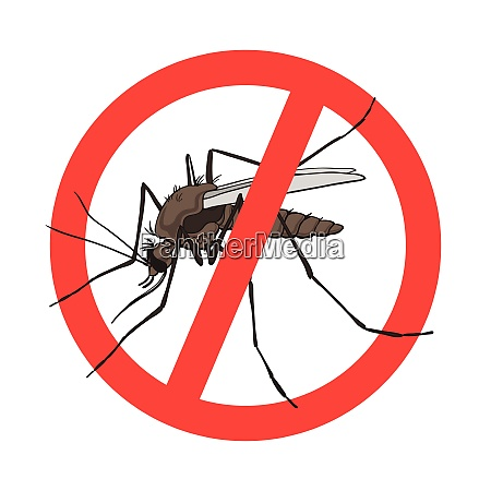 stop mygge tegn vektor billede i