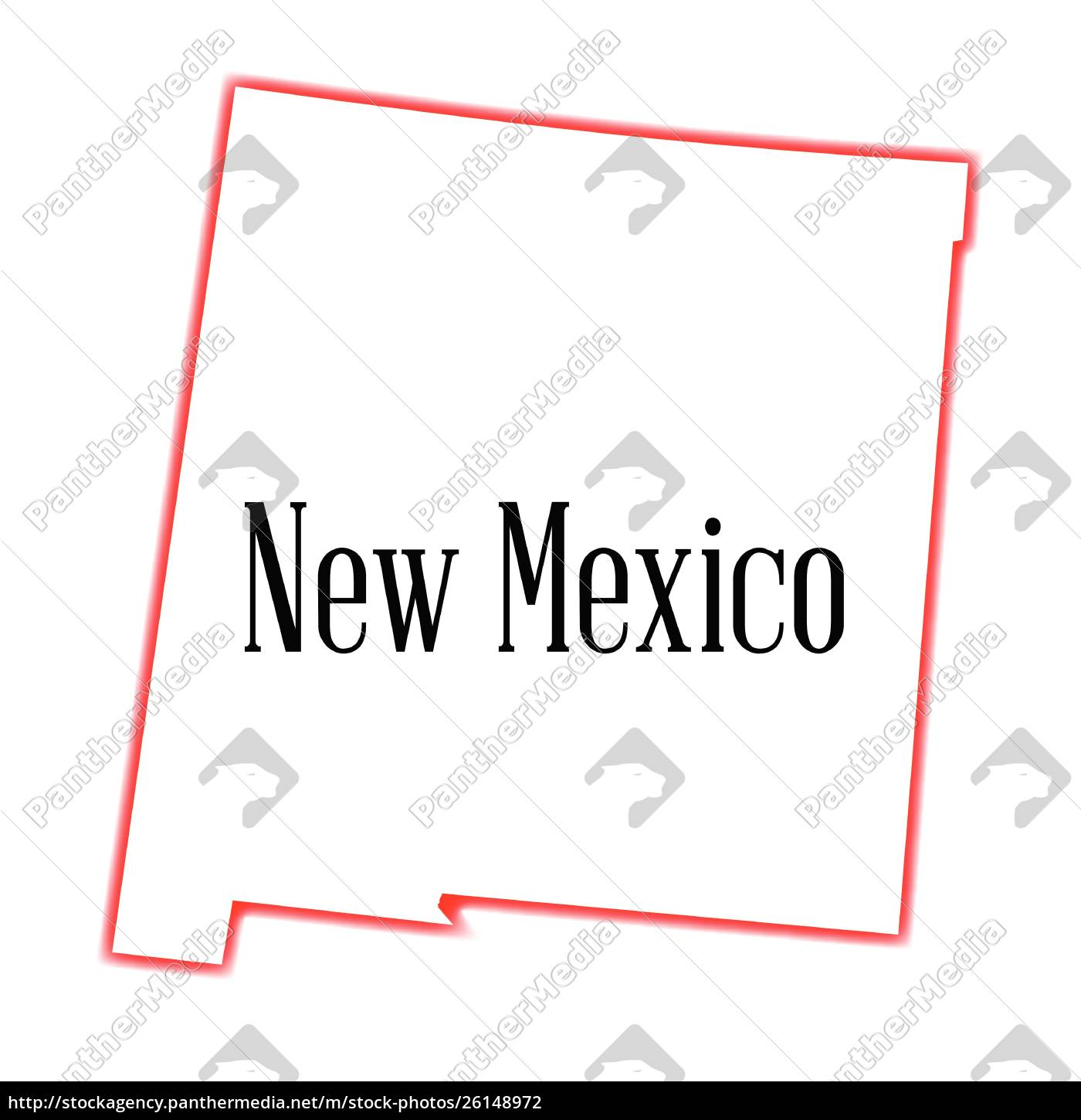 Kort Over New Mexico State Disposition Stockphoto 26148972