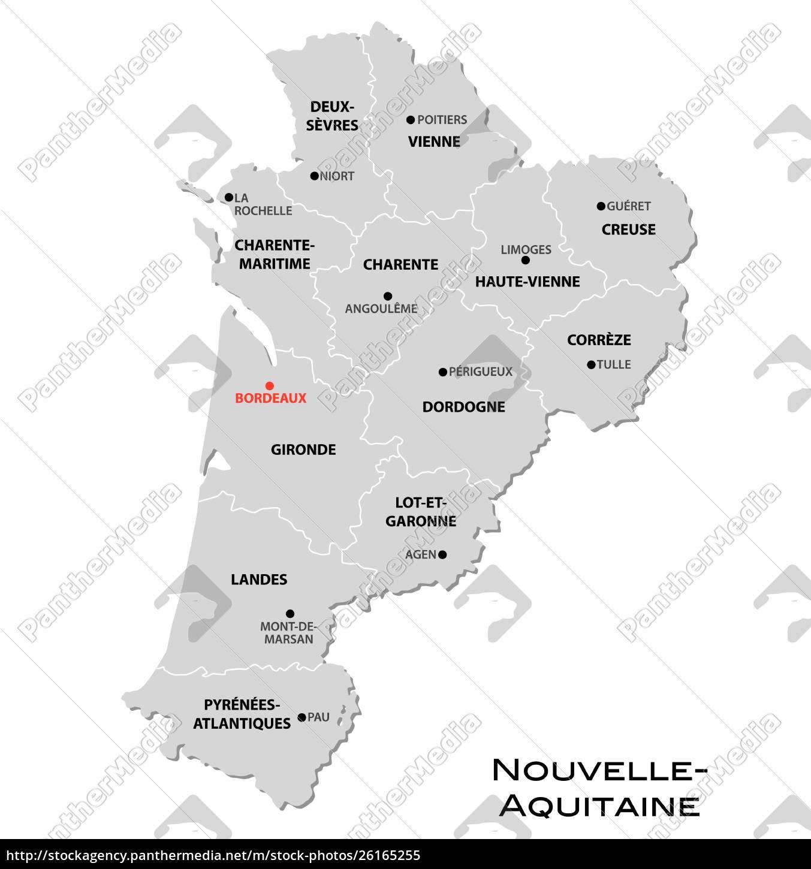 Simpelt Grat Administrativt Kort Over Den Nye Franske Royalty