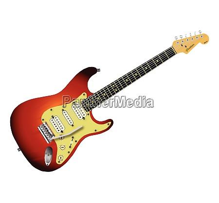 sunburst elektrisk guitar