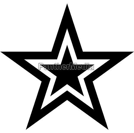 fem spidse stjerne