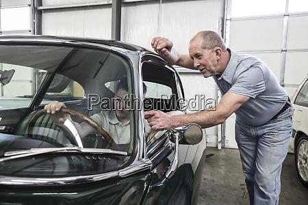 a, caucasian, senior, male, car, mechanic - 26191223