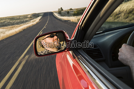view in the rear view drivers