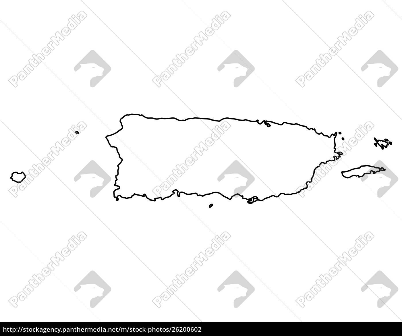 Kort Over Puerto Rico Stockphoto 26200602 Panthermedia